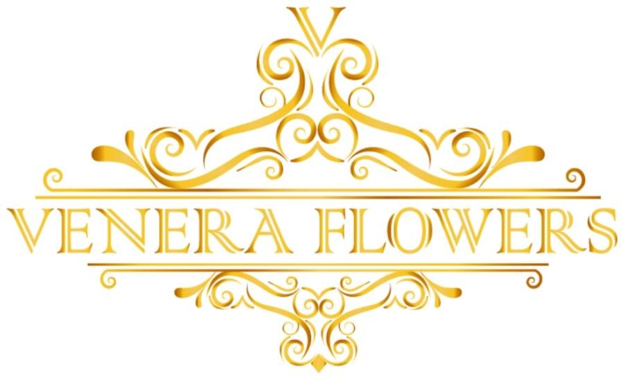 venera flowers logo gold new 2020