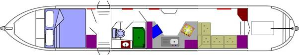 Our Canal Boat Layout