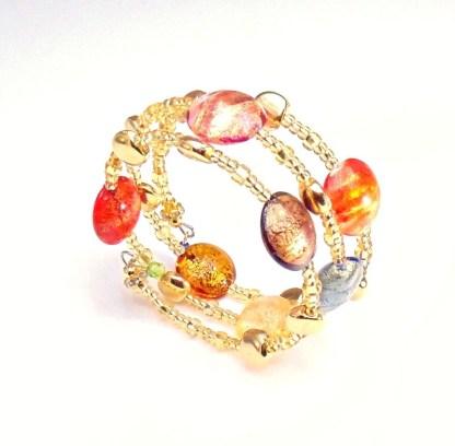 Bracciale Gold 3 giri Multicolor Oro