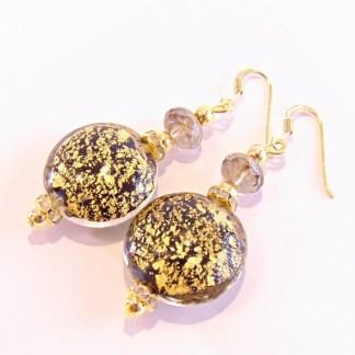 Orecchini Lumiere Black Gold