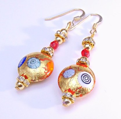 Orecchini Gold Oro/Murrine
