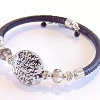 Bracciale Lumiere Black Silver