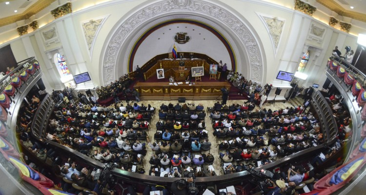 The National Constitutive Assembly in session. Julio Escalona is calling for the discussion of the new constitution to reach outside of the four walls of the assembly building