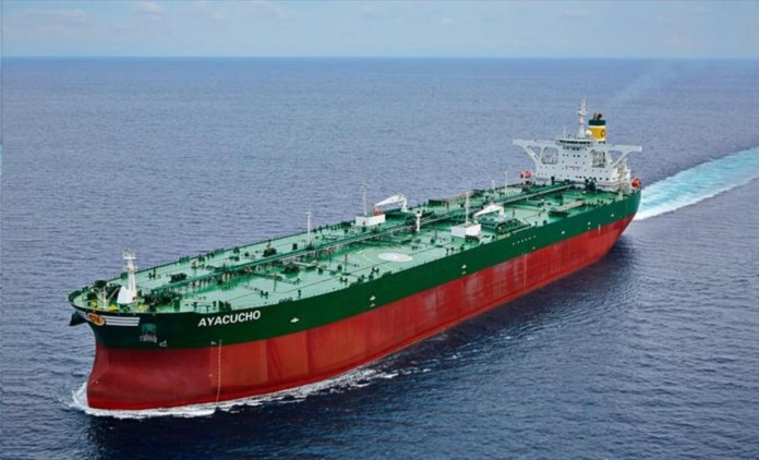 PDVSA's Ayacucho supertanker is in danger of being seized. (Marine Traffic)