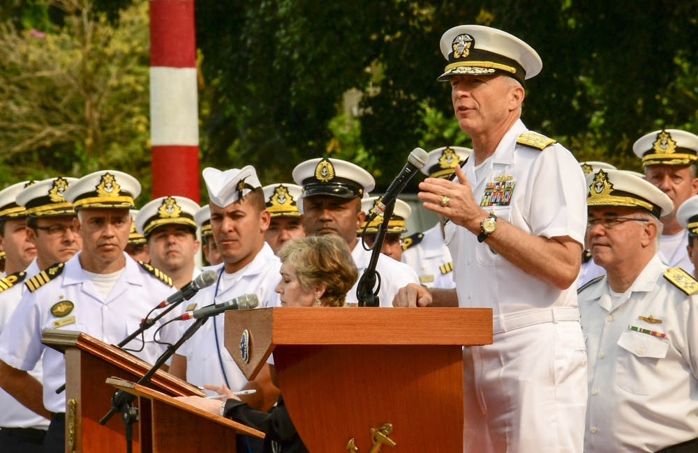 "Southern Command chief Admiral Craig Faller said the US Navy is ""ready"" to intervene in Venezuela. (Dvids)"