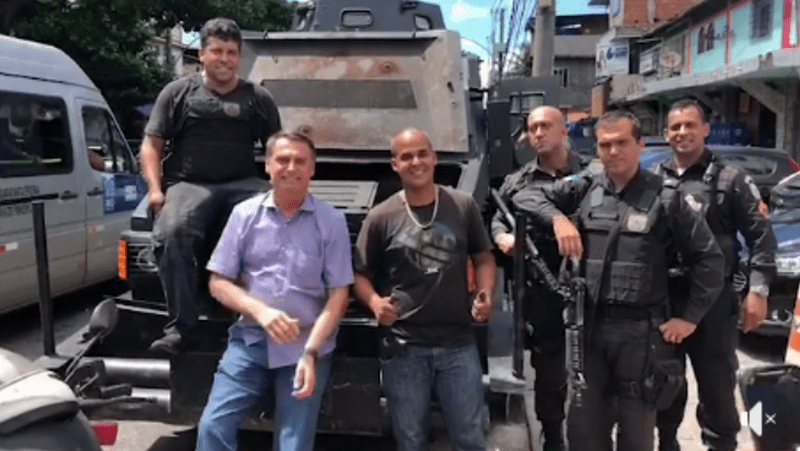 Jair Bolsonaro, the far-right candidate in Brazil's presidential elections, has a swift answer to the complex problems in Brazil's favelas: police repression