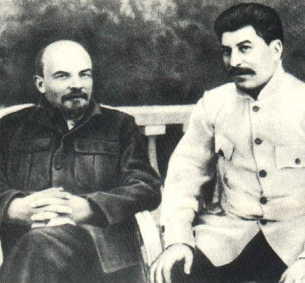Lénine et Staline à Gorki en 1922