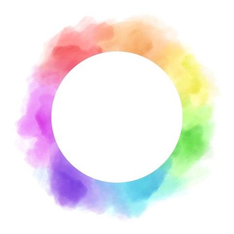 水彩の色相環