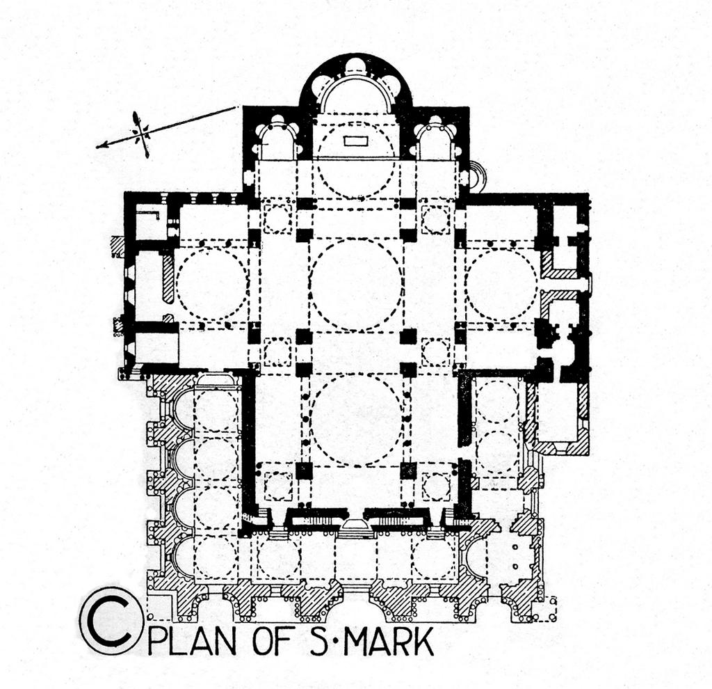 hight resolution of the architecture of san marco from 832 to 1204