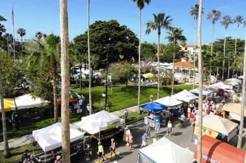 aerial view of venice book fair