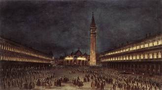 Francesco Guardi, Nighttime Procession in Piazza_San_Marco_-_WGA10833