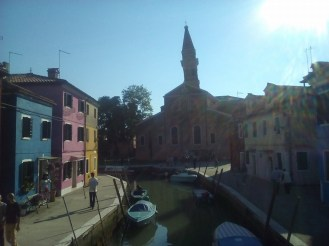 Burano's leaning bell-tower from the Church of San Martino