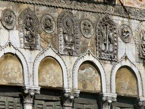 Relief sculpture on the facade of the Ca' da Mosto