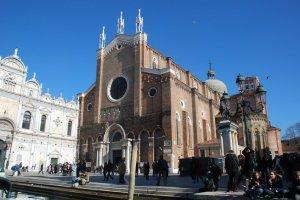 Facade of The Church of Santi Giovanni e Paolo