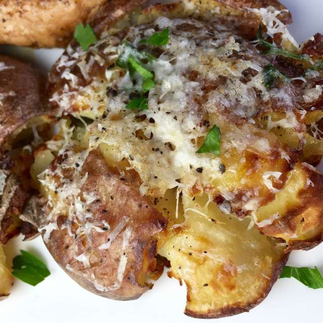 Cheesy Crash Hot Potatoes