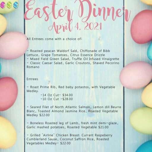 Easter Dinner Menu 2021 for Hotel Venezia