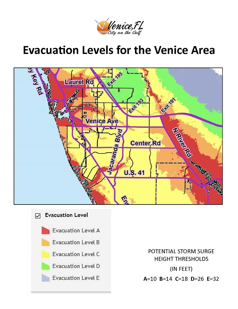 Venice Fl Hurricane Evacuation Zones : venice, hurricane, evacuation, zones, Evacuation, Level, Venice,