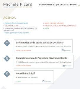 Agenda – Michèle Picard