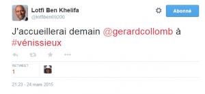 Lotfi Ben Khelifa sur Twitter    J accueillerai demain  gerardcollomb à  vénissieux