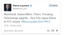 Municipales 2014 Pierre laurent twitter