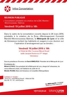 Réunion concertation renouvellement urbain