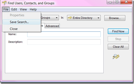 Find Users, Contacts and Groups