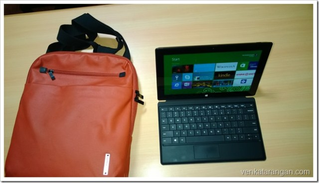 Microsoft Surface Pro with Hush Puppies carry bag
