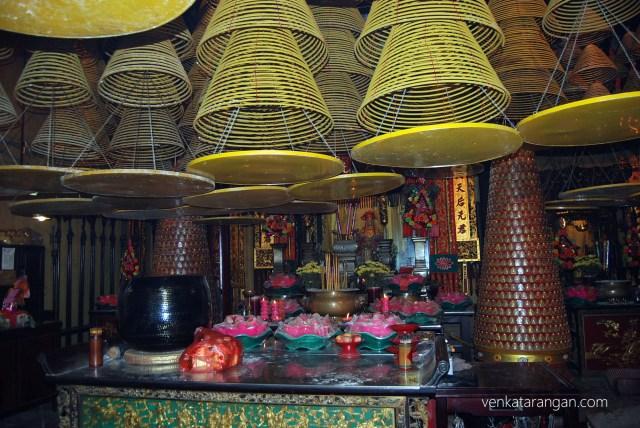The altar at A-Ma Temple, Macau