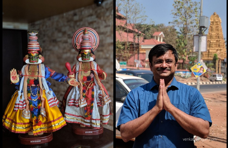 As you enter Kerala you are sure to be greeted by them - Seen here Krishna & Bhima kathakali dolls