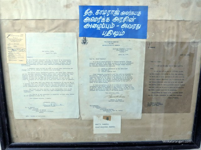 Invitation from the Government of U.S.A. to Mr Kamaraj and his reply