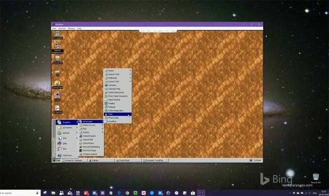 Windows 95 as an electron app in Windows 10