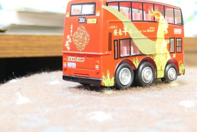 Picture of a red bus toy taken with Panasonic Lumix DC-Z200