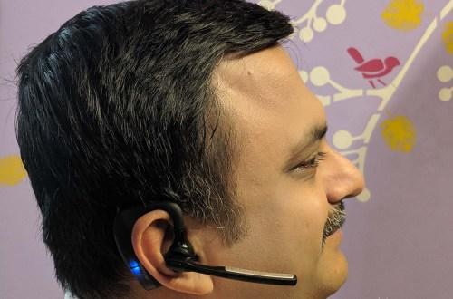Venkatarangan with K10 Wireless Bluetooth Headset for Noise Free Calls