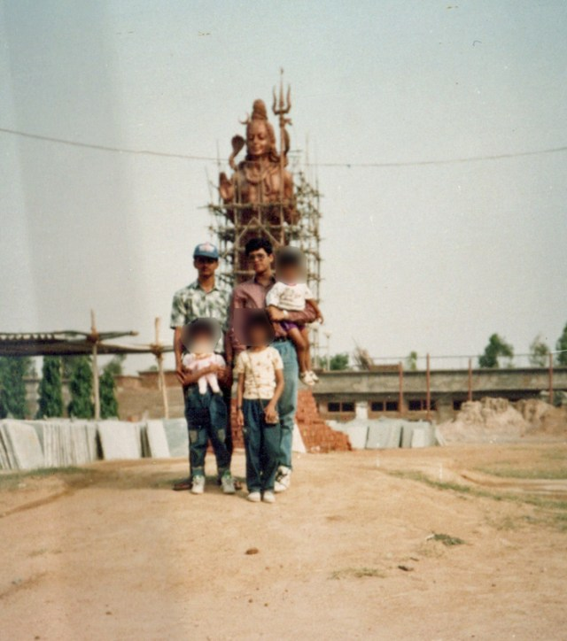 A Siva temple in Rajasthan or New Delhi in 1992