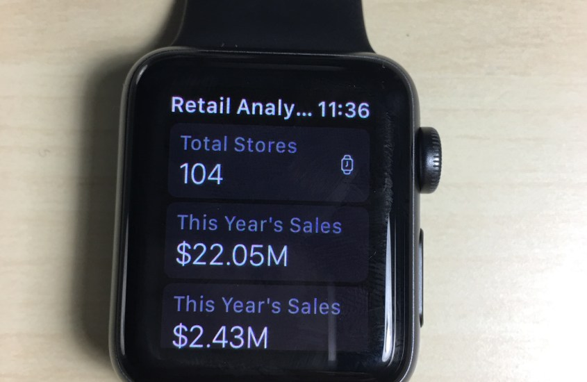Accessing Power BI Dashboard Information on Apple Watch