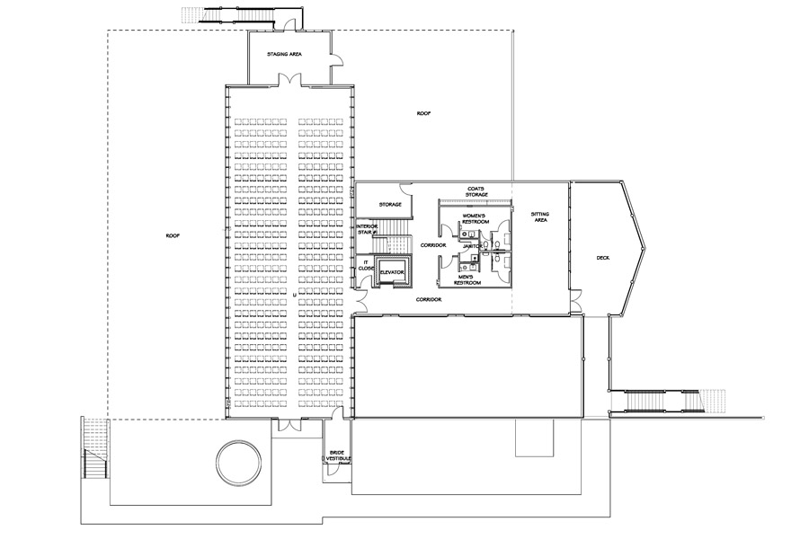 SECOND FLOOR PLAN With SEATING 338 + 12 Standing