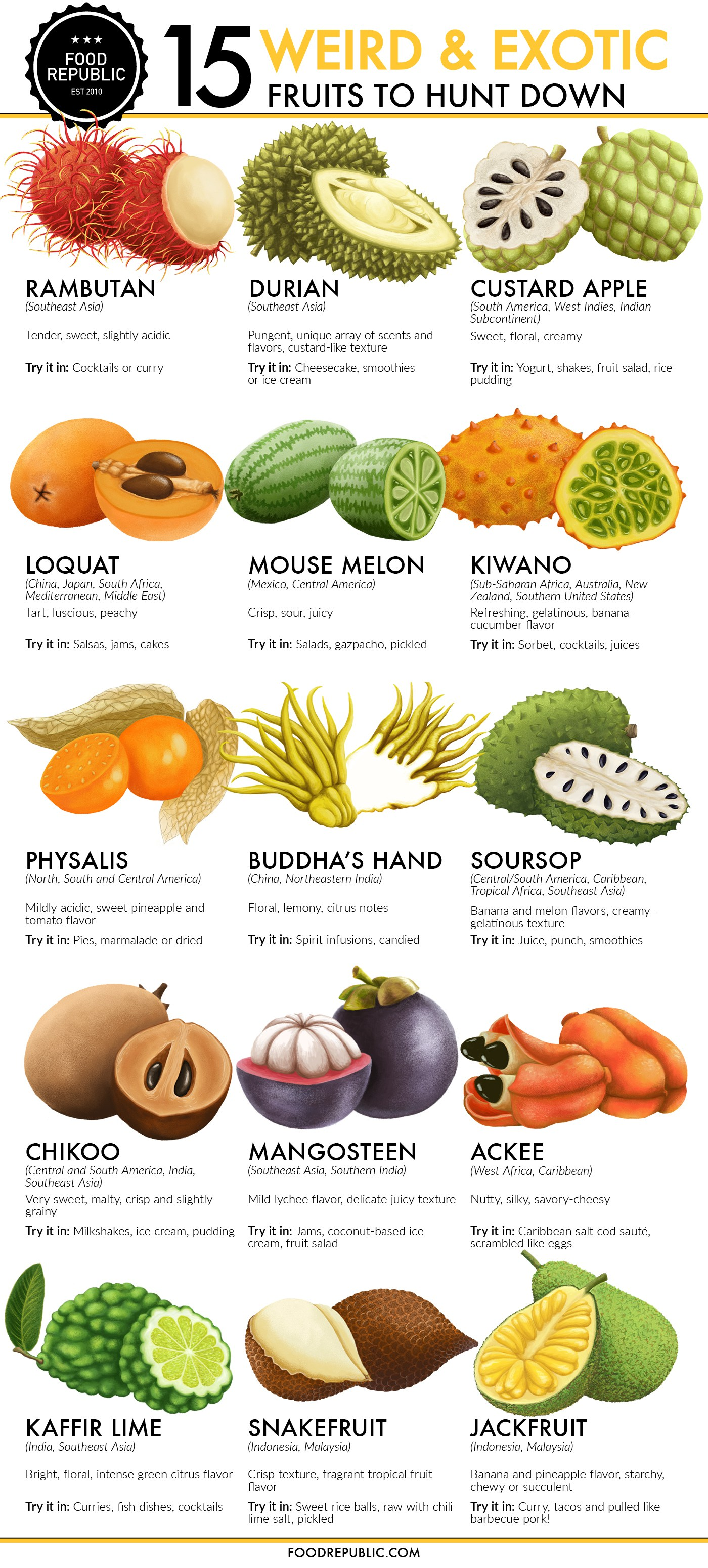 15 Exotic Fruits You Need To Try Right Now - Venngage Infographic Examples