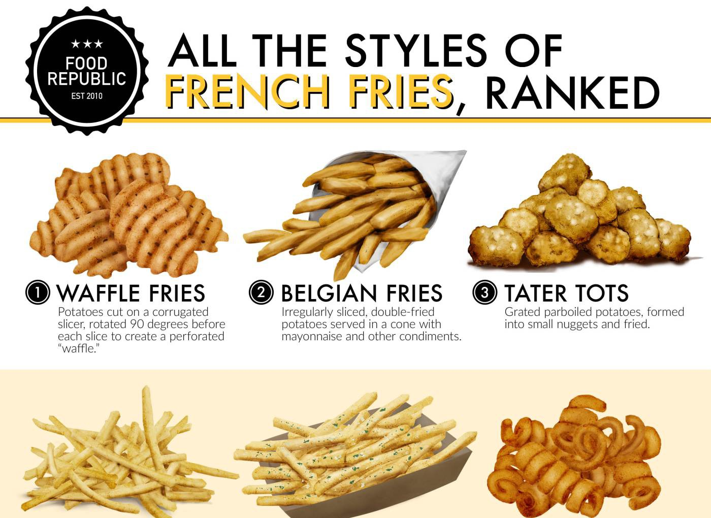 Ranking All The Styles Of French Fries 1000 Infographic
