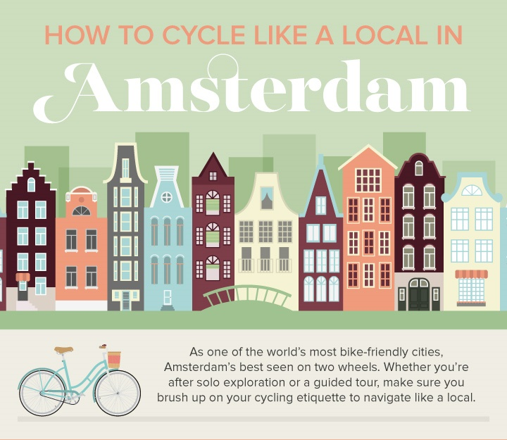How To Cycle Like A Local In Amsterdam Venngage Infographic