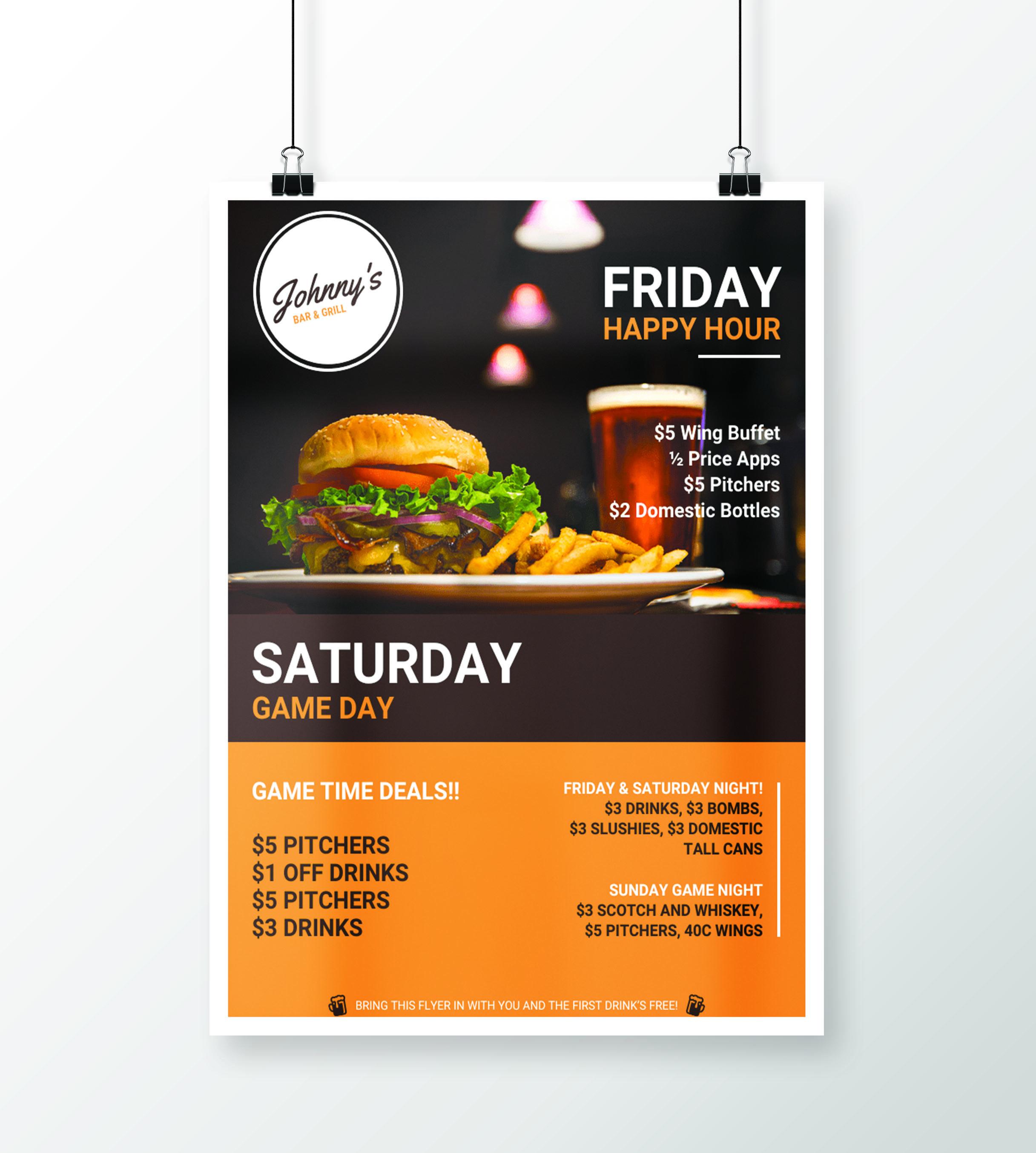 Creative Bar & Restaurant Event Flyer Idea Venngage