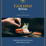 Dark Blue Gold Fancy Restaurant Flyer Idea Venngage Flyer Template
