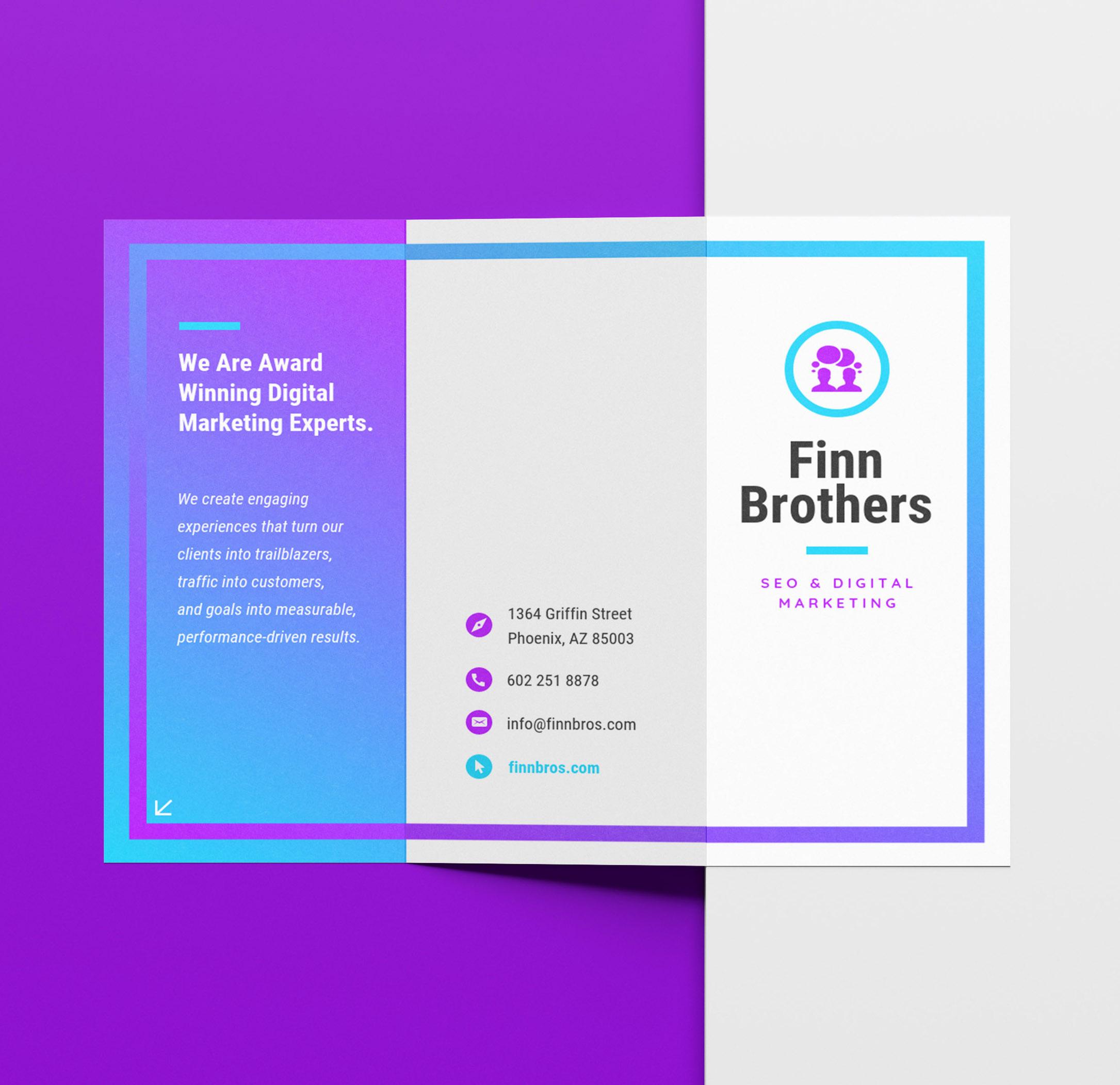 marketing brochure template free