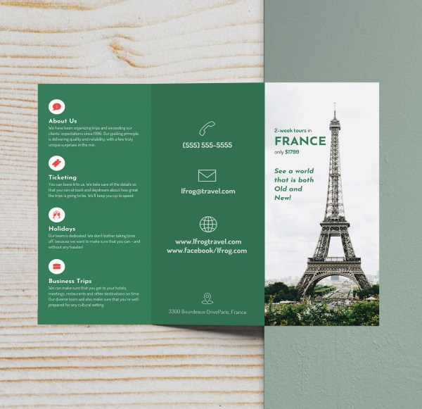 Trifold Brochure Examples Inspire Design