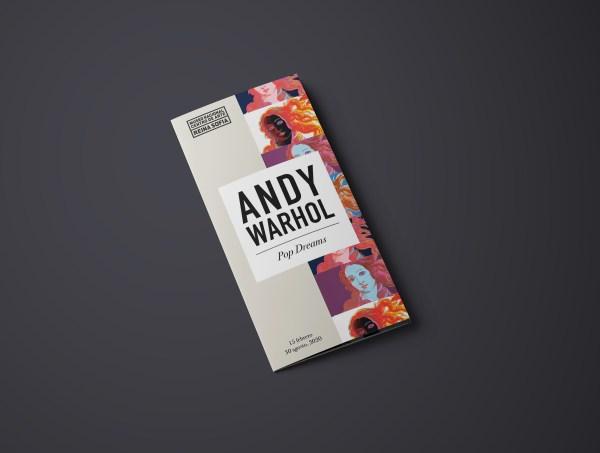 Andy Warhol Pop Dreams Exhibit Trifold Brochure