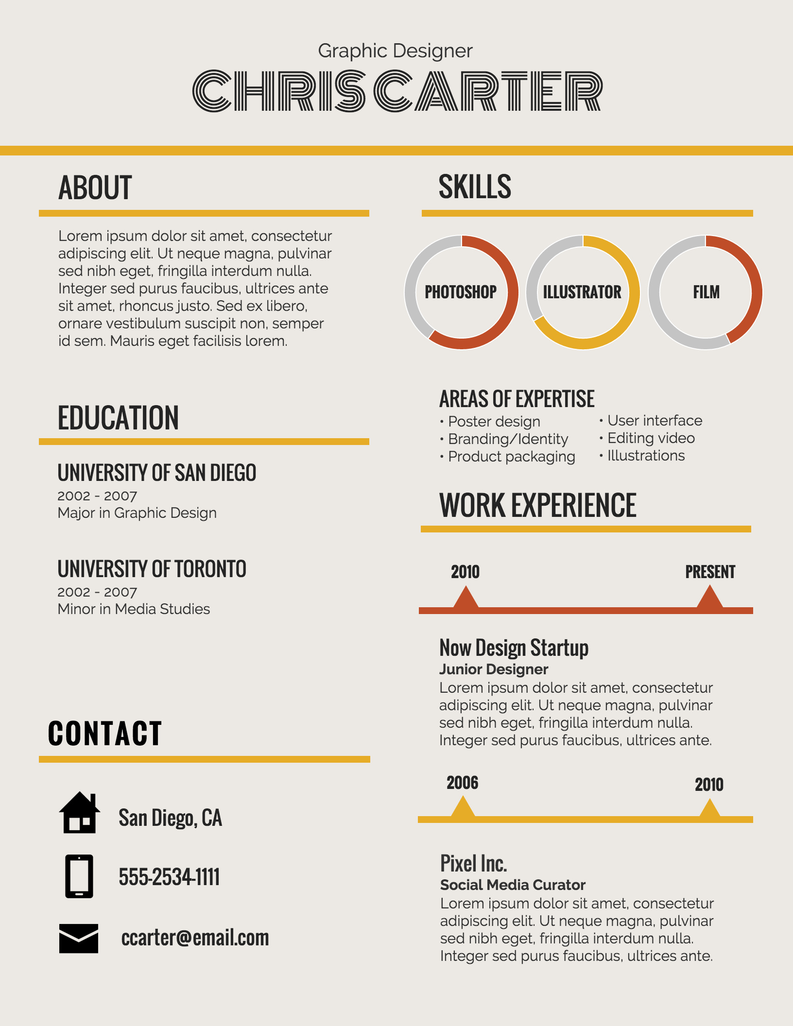 Graphic Design Student Resume Infographic Resume Template Venngage