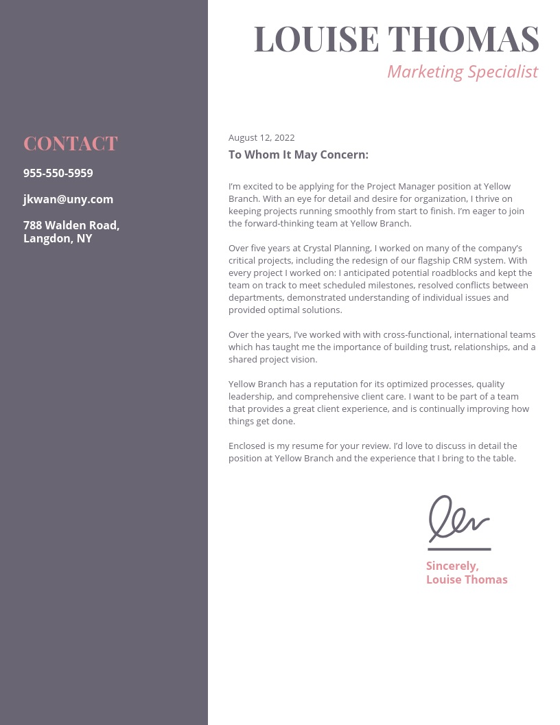 Cover Letters For Resumes 21 Cover Letter Templates And Expert Design Tips To Impress