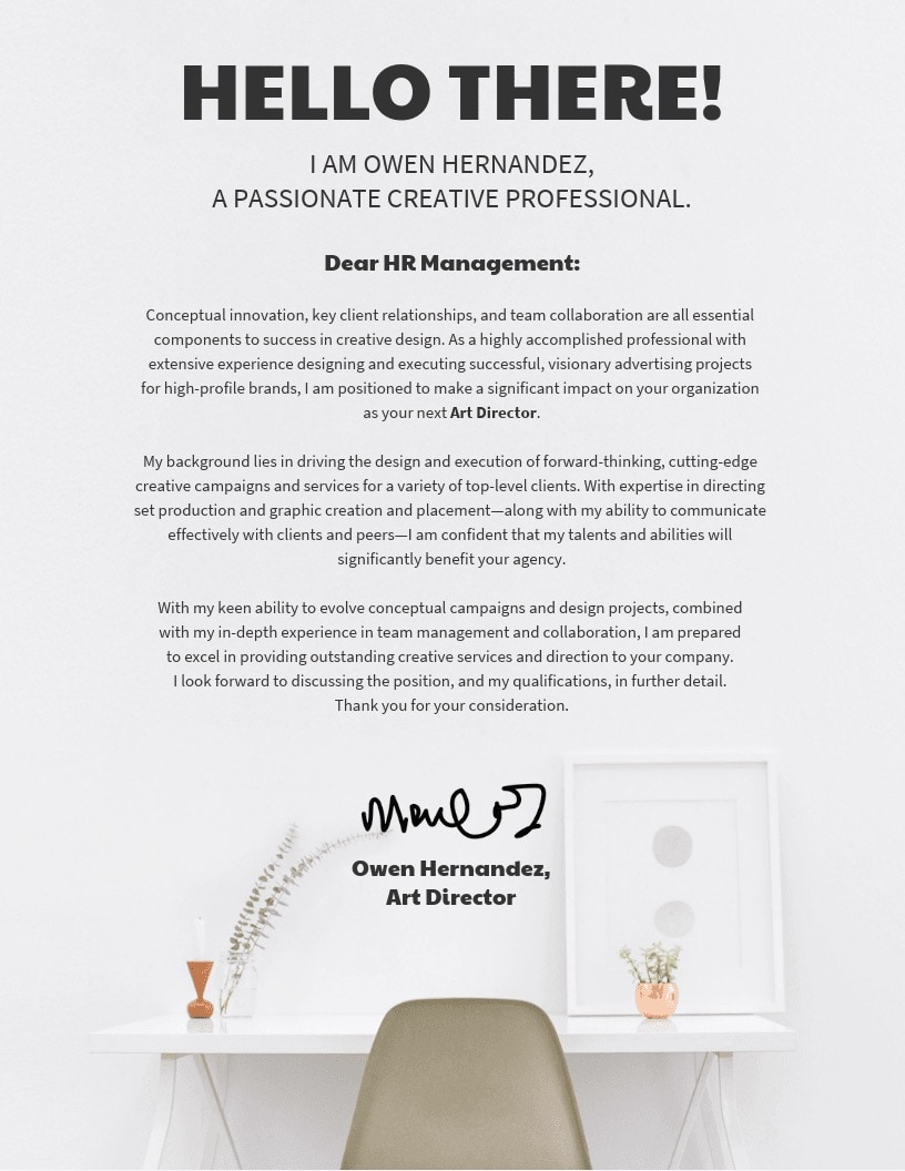 Artist Agent Cover Letter 21 Cover Letter Templates And Expert Design Tips To Impress