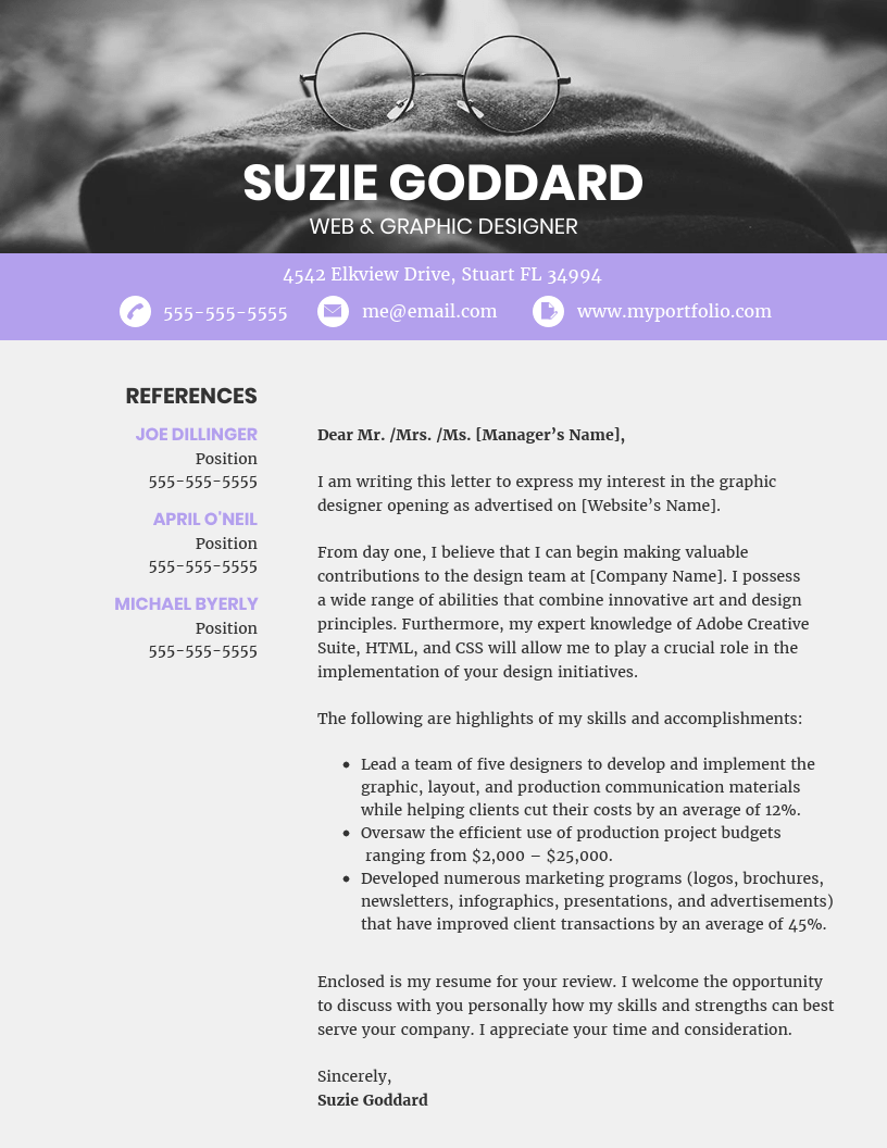 Website Copywriter Cover Letter 21 Cover Letter Templates And Expert Design Tips To Impress