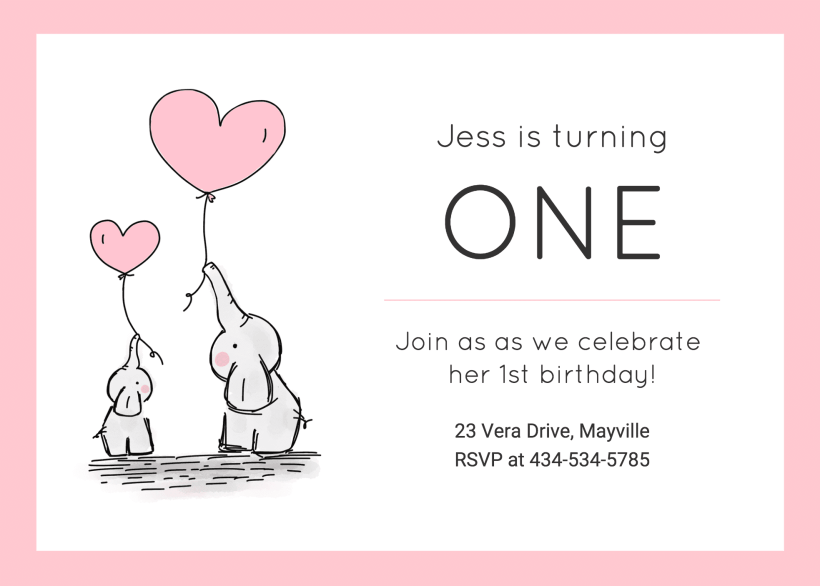 Baby Birthday Invitation Template