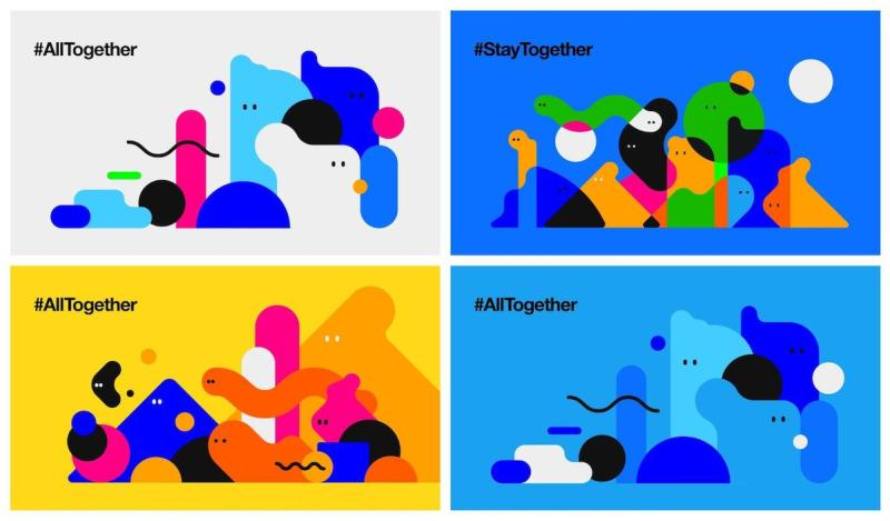 Graphic Design Trends 2020 - Abstract Illustrations 11